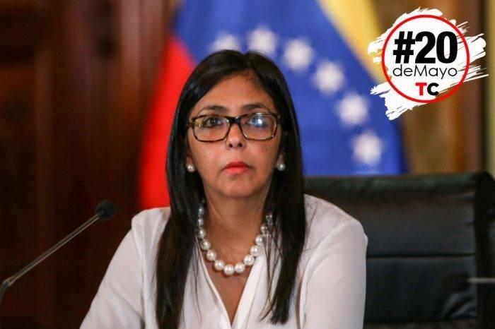 Delcy Rodríguez: Aún hay mucha gente presente en los centros de votación
