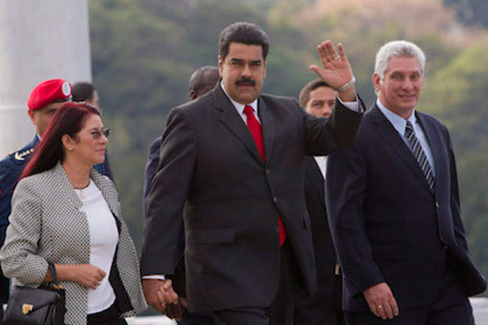 Díaz Canel y Nicolás Maduro. Foto: Diario Guamá-ICRT