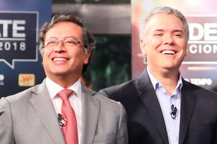 Gustavo Petro e Iván Duque. Foto: Libertad Digital