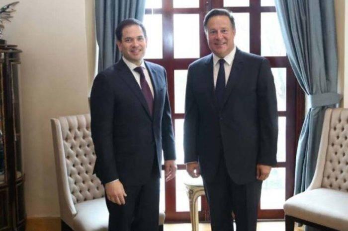 Marco Rubio se reunió con Juan Carlos Varela y conversaron sobre Venezuela