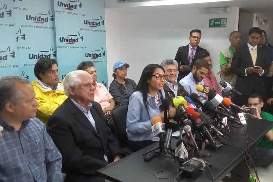 MUD Delsa Solórzano Henry Ramos Allup Omar Barboza
