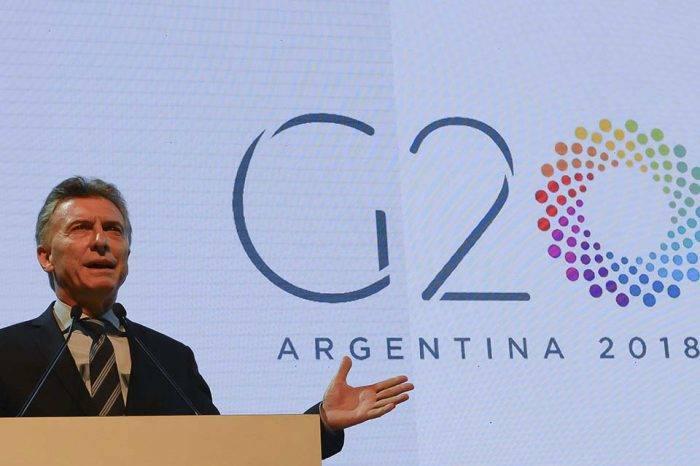 Macri en reunión de cancilleres del G20