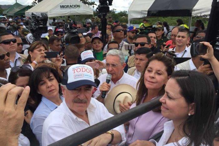 """Pastrana y Uribe se reunieron con Machado para juntar esfuerzos """"contra la tiranía"""""""