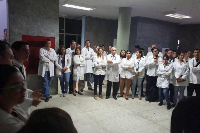 Más de 100 médicos se sumaron a la protesta del Hospital Central Universitario de Valera