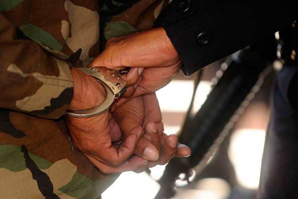 Militar detenido. Foto: El Carabobeño