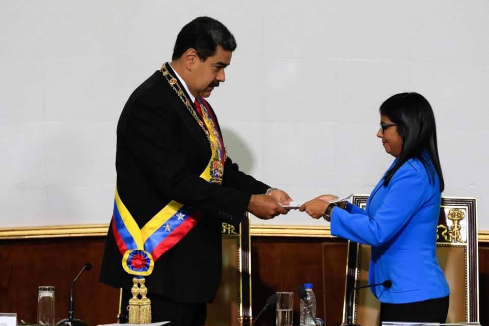 Nicolás Maduro Juramentación ANC Delcy Rodríguez