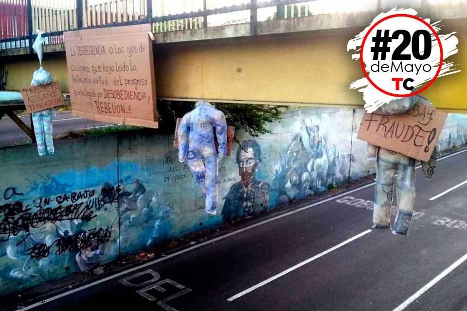 Protesta muñecos Táchira #20DeMayo