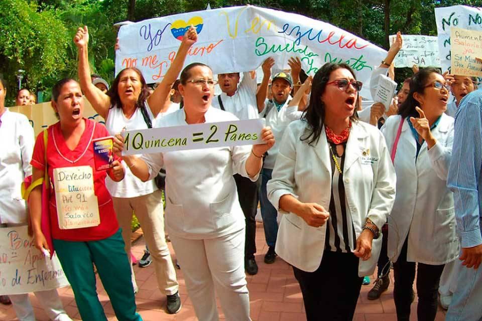 Protesta de enfermeras en Lara