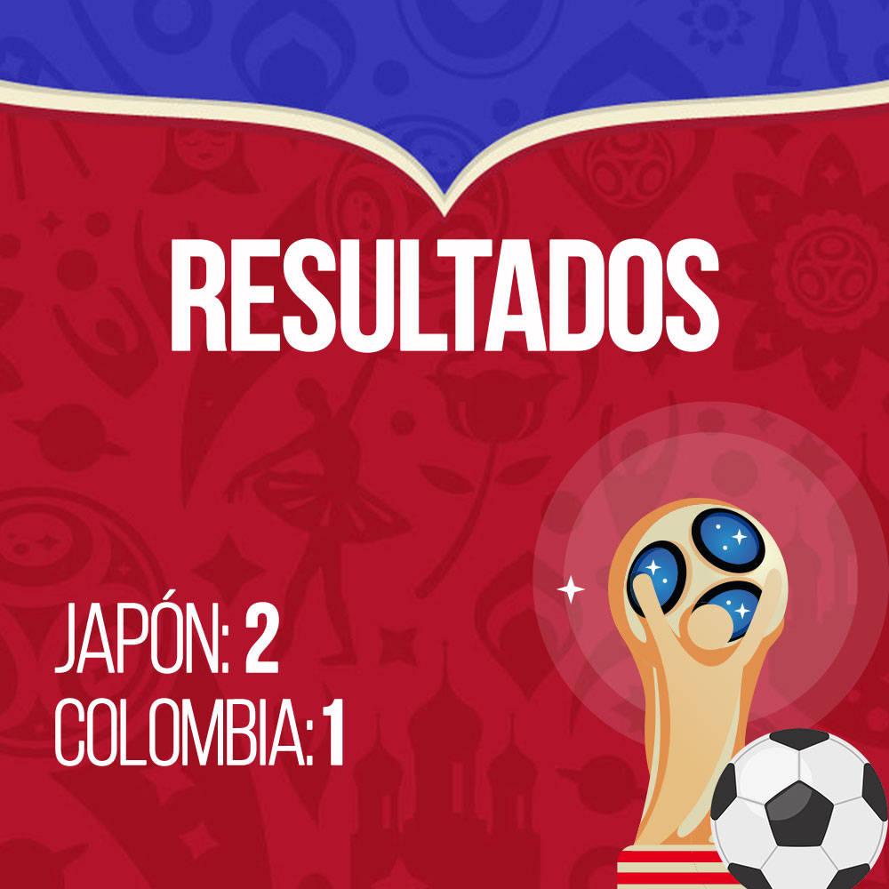 Resultados Colombia vs Japón