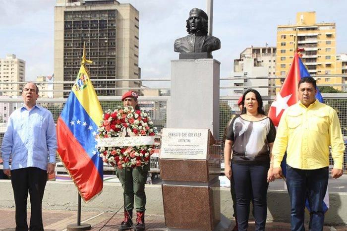 Explotan busto del 'Ché' Guevara en la avenida Bolívar