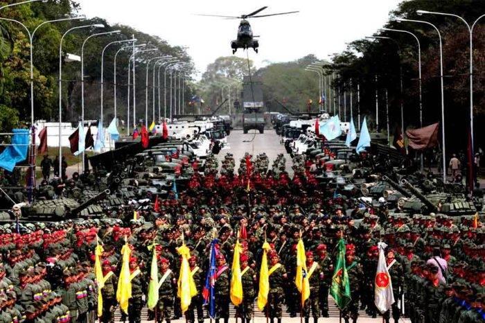 Fuerza Armada Nacional realiza prácticas de cara al desfile del 5 de julio