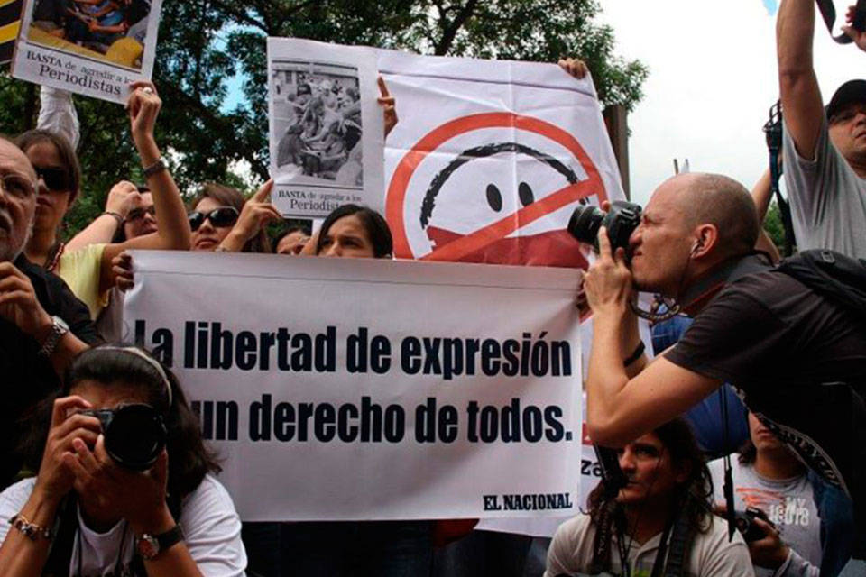 Libertad de expresión. Foto:Crónicas Venezuela