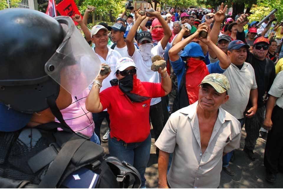 Turbas sandinistas colectivos Nicaragua