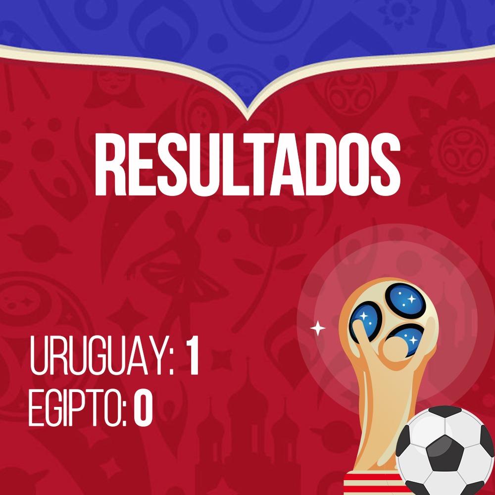 Resultados Uruguay vs Egipto