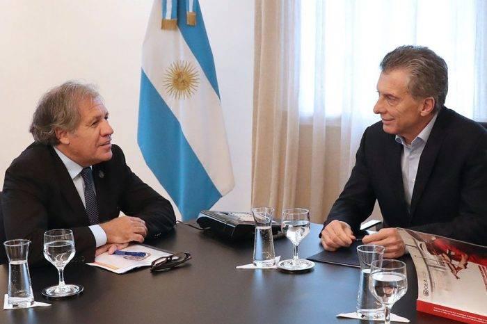 Almagro entrega a Macri informe de la OEA sobre violación de DDHH en Venezuela