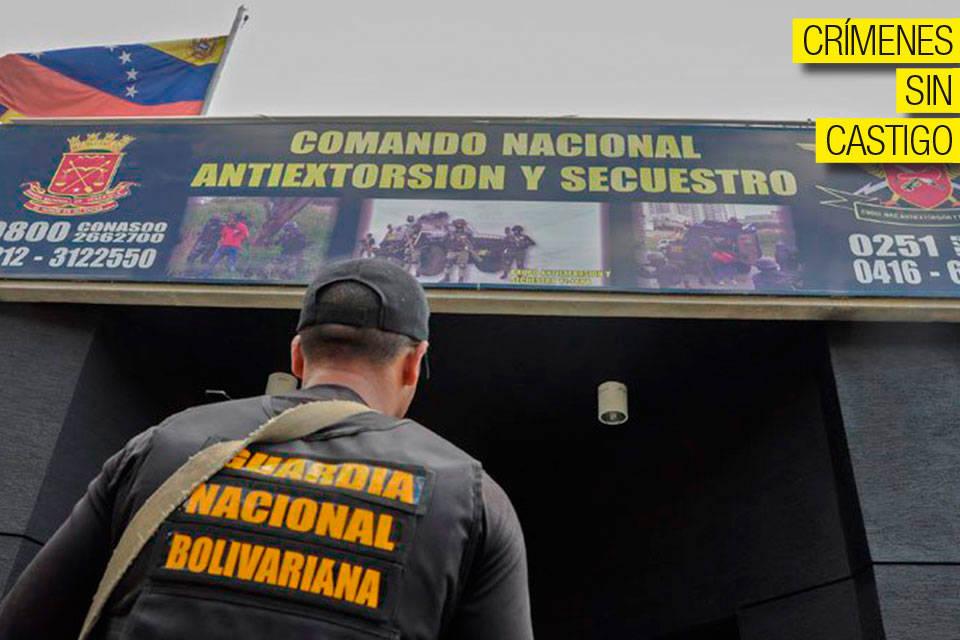 Comando Nacional Antiextorción y Secuestro. Foto: El Impulso