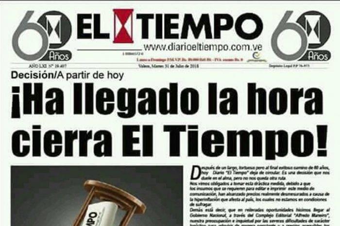 El estado Trujillo se queda sin diarios impresos tras el cierre de El Tiempo