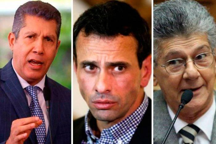 Falcón-Capriles-Ramos Allup. Foto: Tenemos noticias