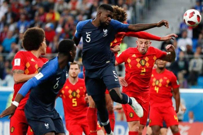 Juego Francia Bélgica. Foto: Voz de América