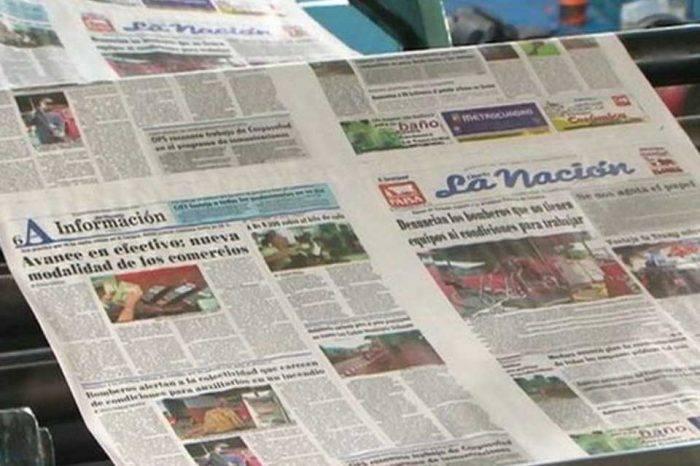 Diario La Nación circulará cinco días a la semana por falta de papel