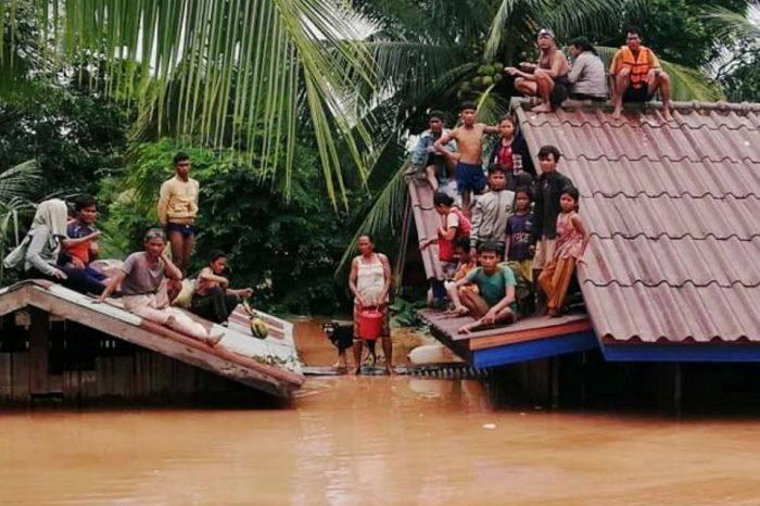 1.300 familias perdieron sus hogares tras derrumbe de represa en Laos