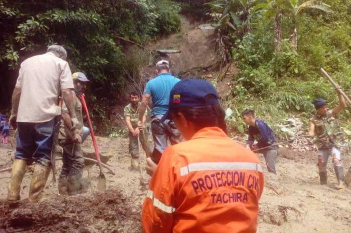 Protección Civil Lluvias Táchira