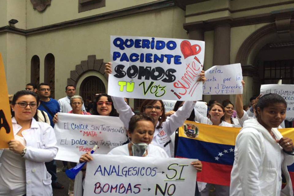 Protestas sector salud. Foto: Prinicias24.com