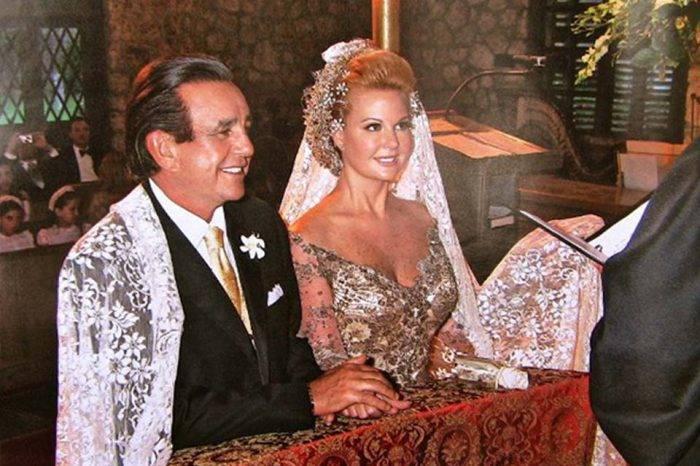 Serafín García el día de su boda con Irene Sáez