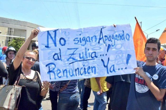 Diputados marcharon en el Zulia para exigir mejoras en el servicio eléctrico