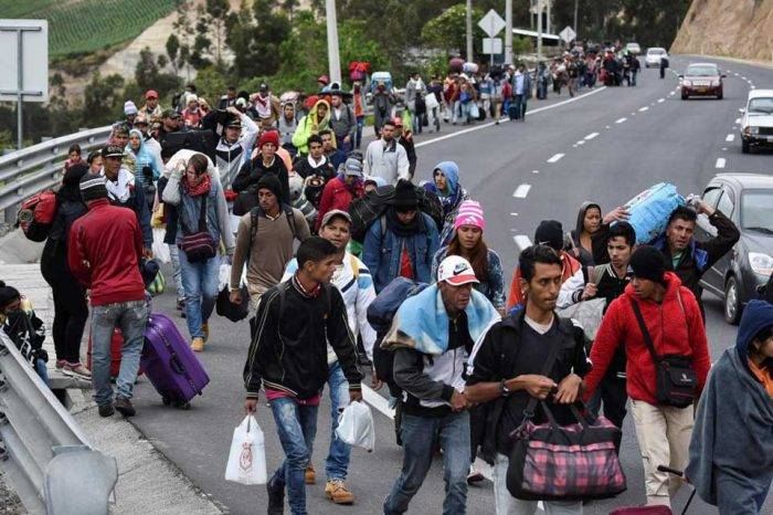 Ocho menores de edad llegaron caminando a Perú sin la compañía de sus padres