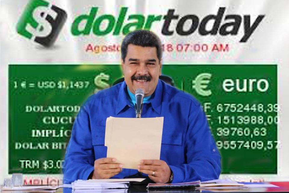 Nicolás Maduro-DolarToday. Montaje: GV