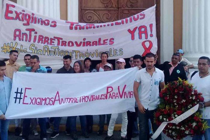 Emigrar o morir: el drama de los venezolanos que viven con VIH Protesta VIH