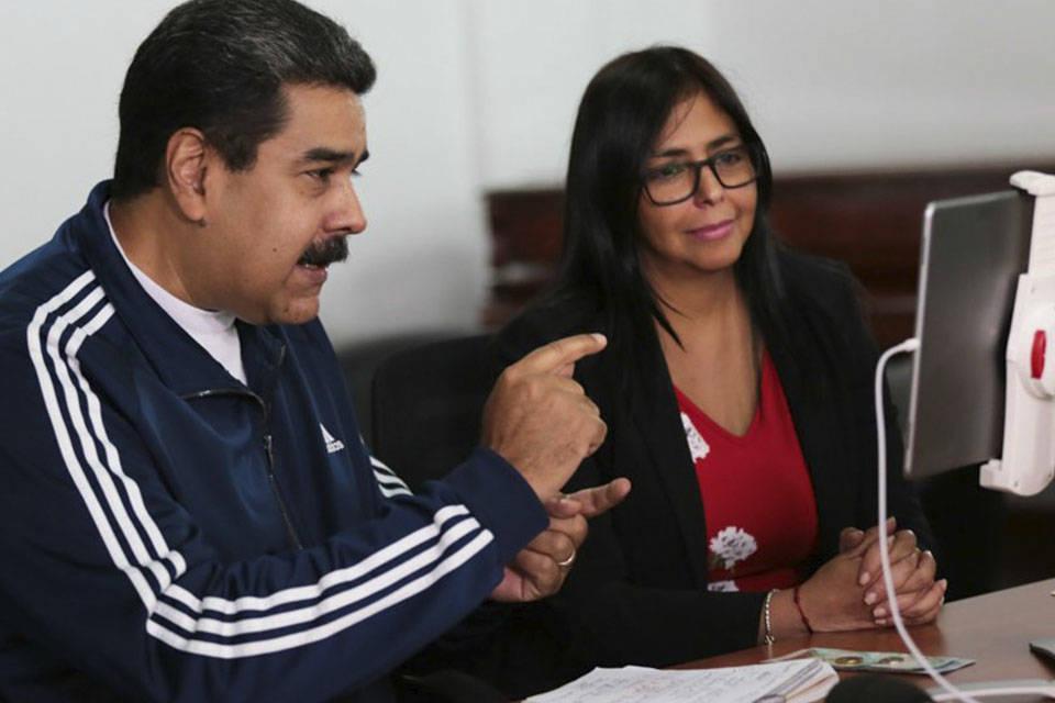 Maduro y Delcy Rodríguez