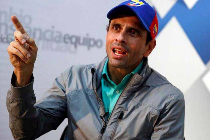 Capriles ratifica que su partido es Primero Justicia y no La Fuerza del Cambio