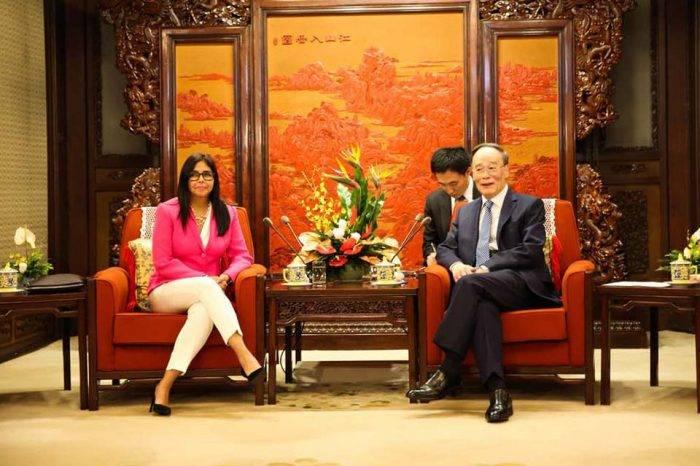 """Delcy Rodríguez asegura que su gira en China elevó las relaciones a un """"nuevo nivel"""""""