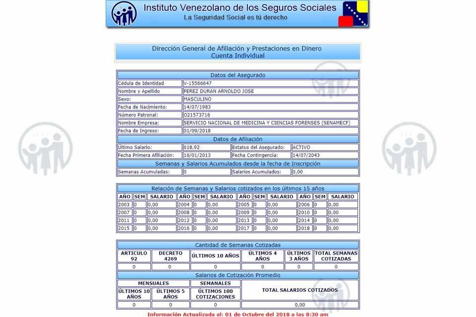 IVSS médico Fernando Albán