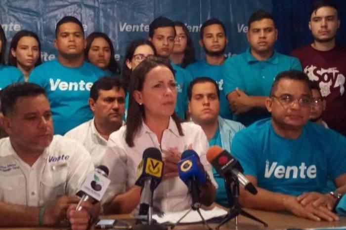 María Corina Machado acusó a Maduro de ordenar el ataque en su contra