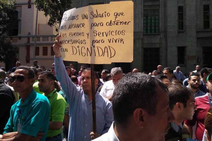 Trabajadores protesta BCV