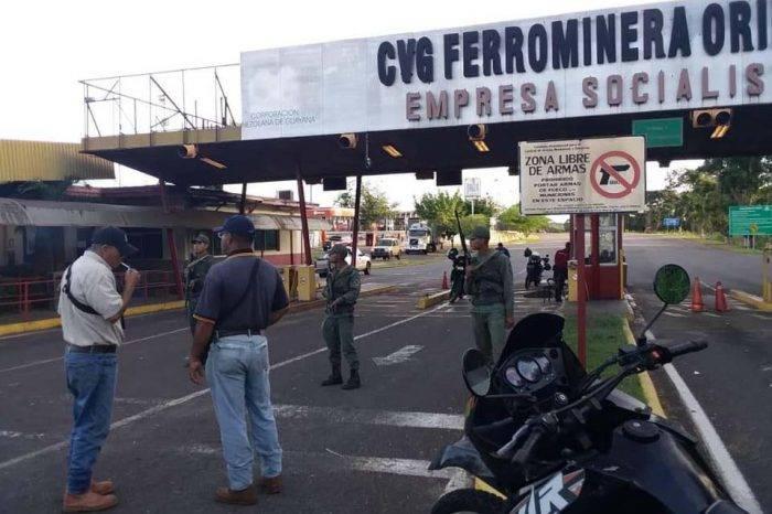 Militares dispersaron a plomo protesta de trabajadores de Ferrominera