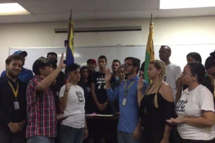 Proclaman como presidente de la FCU de la Universidad de Carabobo a opositor Marlon Díaz