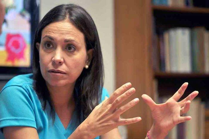 María Corina Machado pide a los gobiernos del mundo repudiar al régimen de Maduro