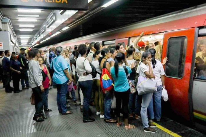 Reportan nuevo colapso en el inhumano Metro de Caracas