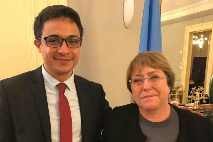 Lorent Saleh expuso situación de DDHH en Venezuela a Michelle Bachelet