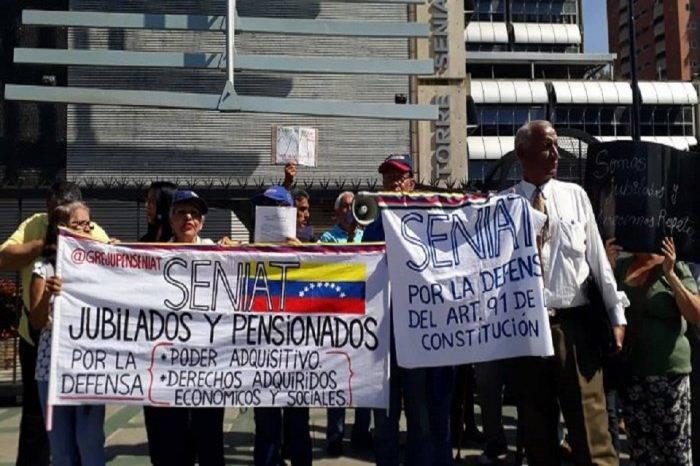 Trabajadores del Seniat exigieron al Gobierno mejoras salariales y respeto a tabuladores