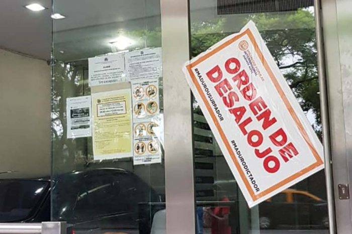 """Embajada de Venezuela en Argentina amanece con """"orden de desalojo"""" del partido VP"""