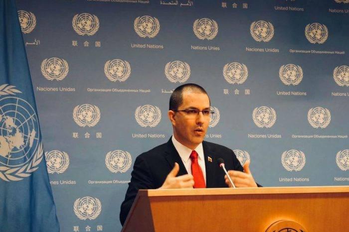 Arreaza denunció en la ONU presunto golpe de estado e injerencia de EEUU
