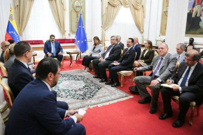 Maduro se reunió con embajadores de la UE que lamentaron su investidura
