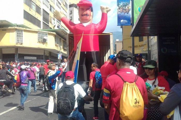 El chavismo montó su espectáculo a lo largo de la avenida Baralt
