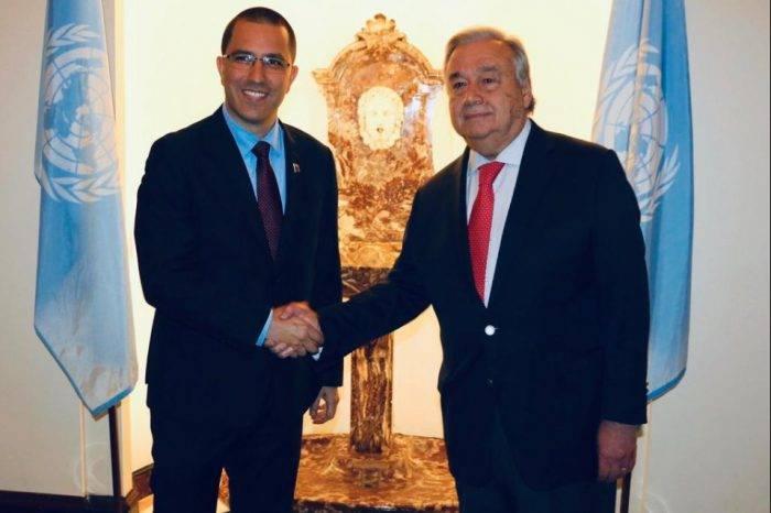 Arreaza habló con Antonio Guterres para profundizar áreas de cooperación con la ONU