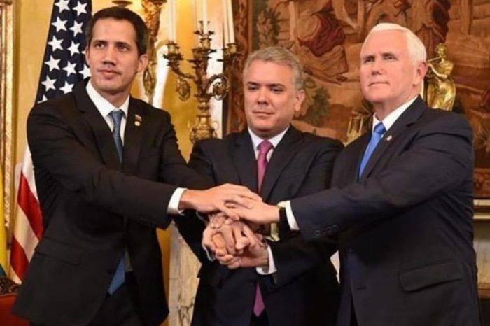 Pence le dice a Guaidó que Trump está con él en un 100%